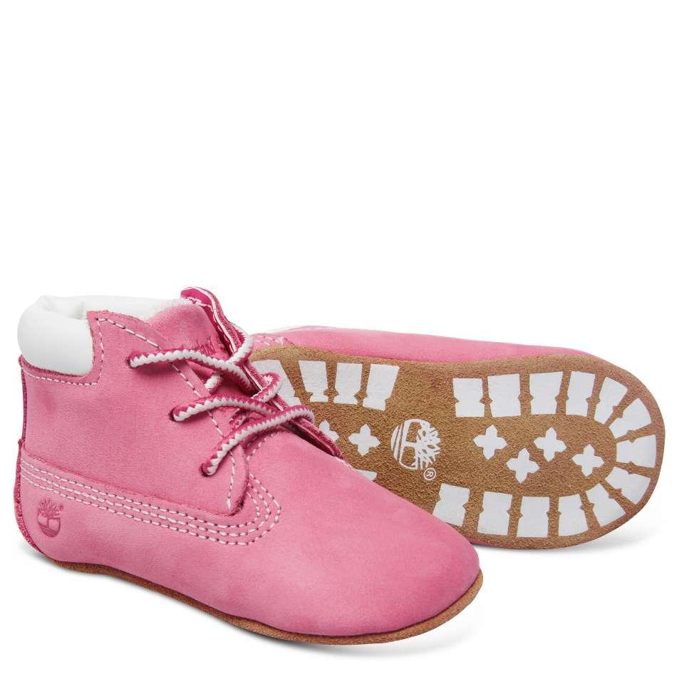 Timberland babysett med sko og lue, rosa